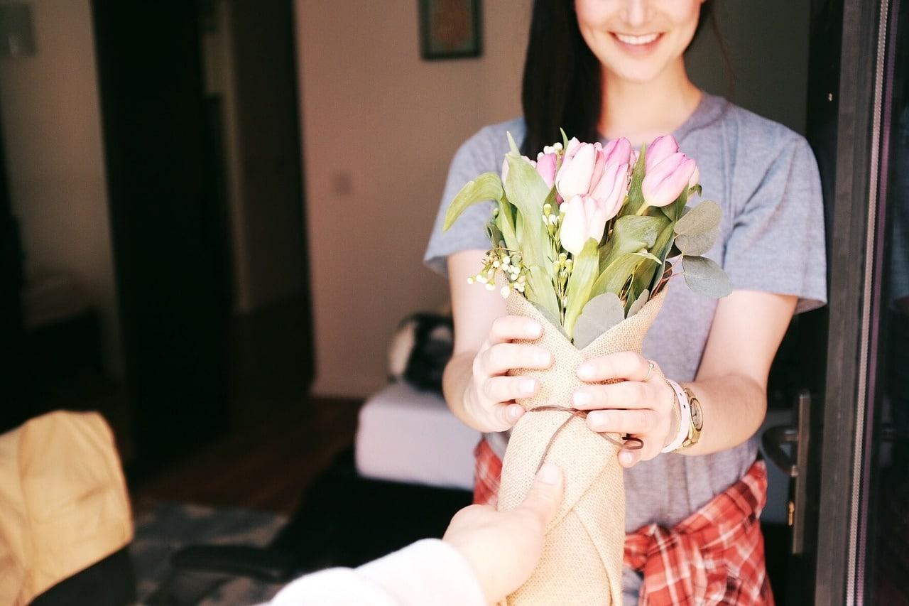 bosje gekleurde tulpen